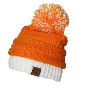 Orange and White Gameday C.C Beanie New with Tags
